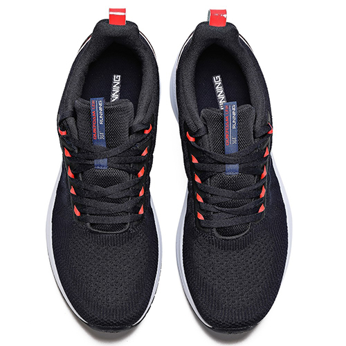 361 Degrees Perfomance Running 41 Sports Shoes For Men, Black And Blue
