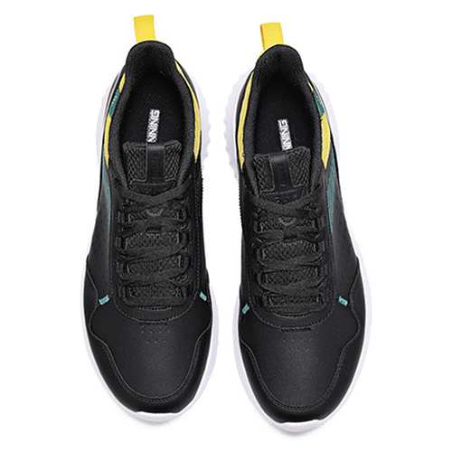 361 Degrees Perfomance Running Sports 41 Shoes For Men, Black And Yellow