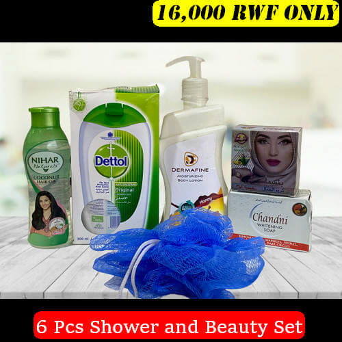 Shower and Beauty 6pcs Combo Set