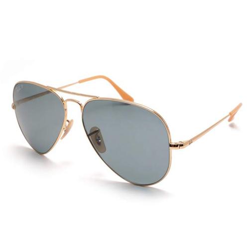 Sunglasses Ray-Ban RB3689 9064 / S2 58-14 Gold Medium polarized
