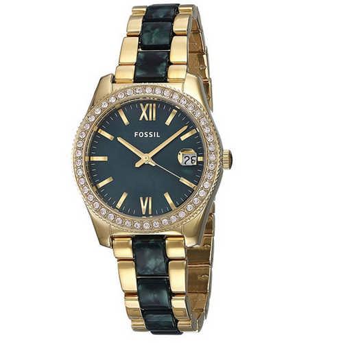 Fossil Analog Green Dial Ladies Watch, ES4676