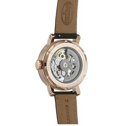 Fossil Analog Gunmetal Dial Ladies Watch, ME3089
