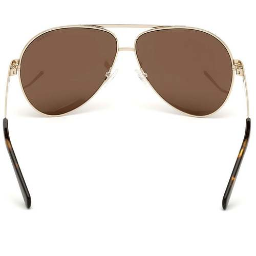 Guess GU6969 32E Sunglass For Men Gold With Brown, Size 61