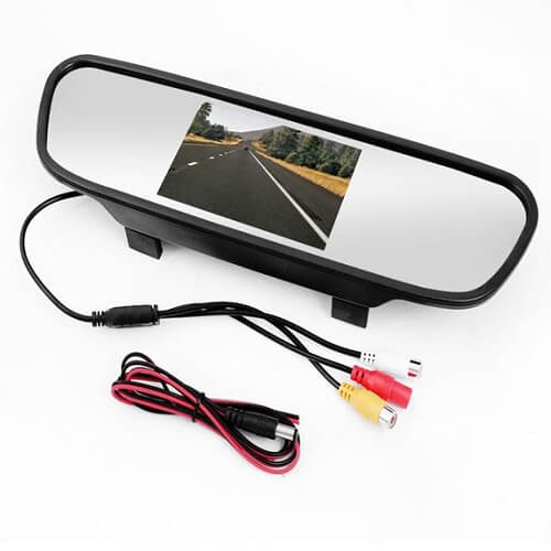 Front /Back Car Camera 2 In 1 Bundle With 4.3 Inch Digital TFT LCD Mirror Monitor For Cars