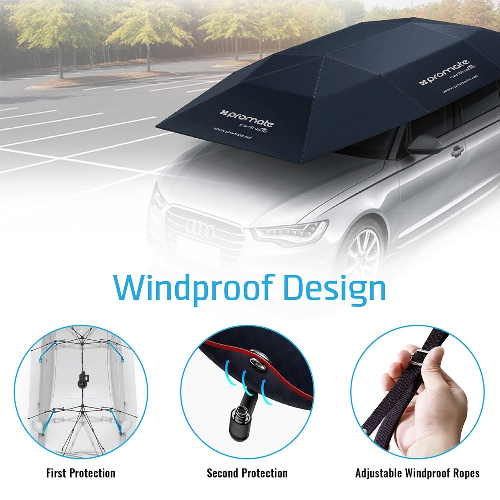 Automatic Folded Umbrella Car cover, 4 x 2.1 Meters with Remote Control