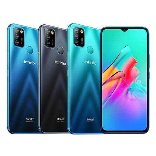 Infinix Smart 5 (4G) Smartphone Dual SIM, 32, 2GB RAM Smart Mobile Phone. Black/Blue X657