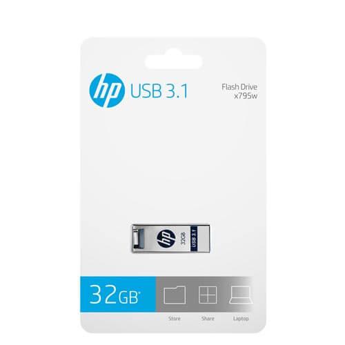 HP High Speed USB 3.1  32GB USB Original  Flash Drive Waterproof Dustproof Memory Stick  X795W Metal  pen drive