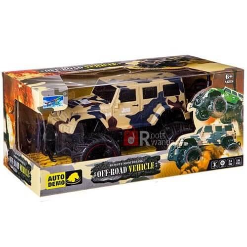 Off-Road Radio-controlled military jeep Vehicle 666-136B